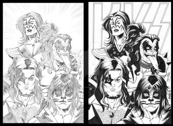 KISS Pencils to Inks by MichaelWKellarINKS