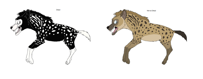 InkHyaena (gift art)(with Saba) by Patchi1995