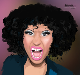 Nicki Minaj scream paint by secretSWC