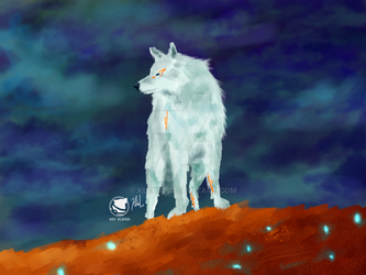 Whitewolf-by-kev-klehid-space by klehid