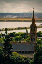 Church view from the sky by roxiannie