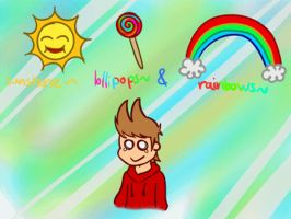 Tord gif sunshine lollipops and rainbows by Gatagamer
