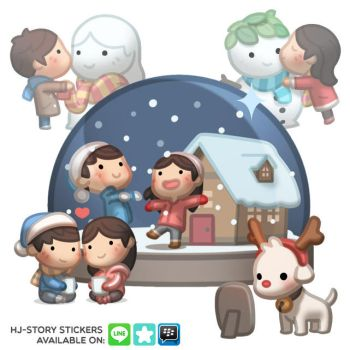 Christmas Stickers by hjstory