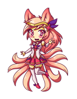 Star Guardian Ahri Chibi by LankySandwich