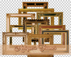 Antique Frames PNGs by Bellacrix