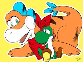 Plessie  and Yoshi by amito