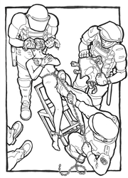 Line-art for Strip-searched part 17 ('Shafted') by montycrusto
