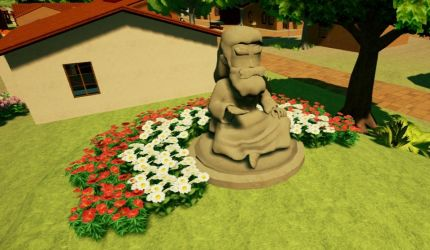 Statue with Flowers by Pumpkin-Online