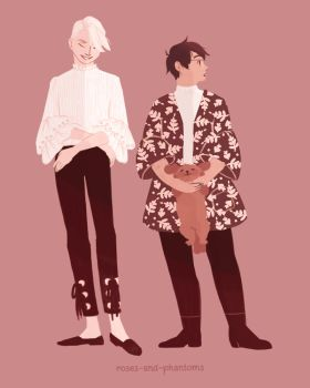 victuuri fall outfits by roses-and-phantoms