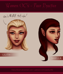 Women OC's - Face Practice by TheLuciferArt