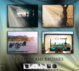 Light Beam Brushes by Devirose81