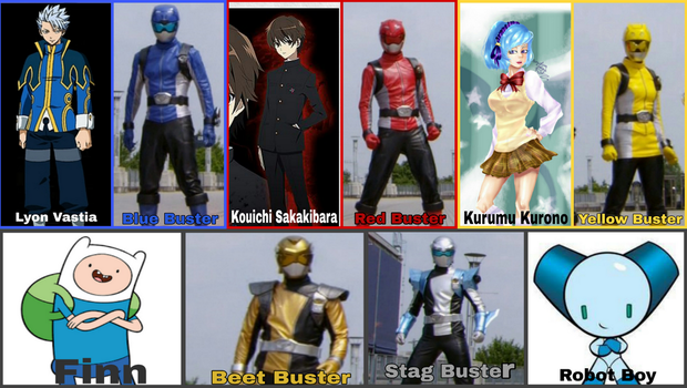 Go-Busters Portrayed by Any Characters by Tabacookie