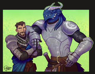 Commission: Thoran and Valkynar by GalooGameLady