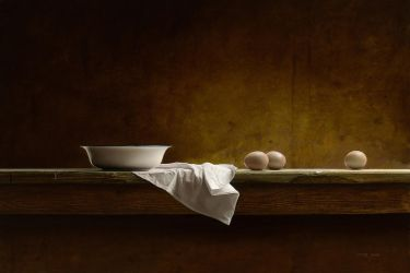 Eggs on a Table by m-v-c