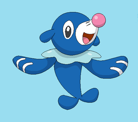 Popplio Lineart by michy123