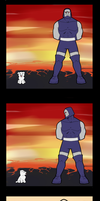 Darkseid and puppy by Flick-the-Thief