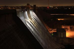 Mansfield Dam in Low Light by atomicowboy