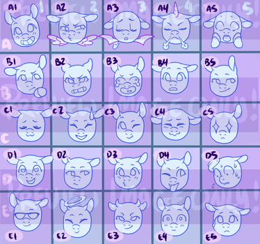 Emoji set YCH [OPEN][$5/500] by LavvytheJackalope