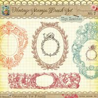 Vintage Stamps No. 7 by starsunflowerstudio