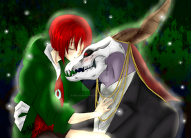 Always with you: Chise And Elias by Freaque-of-Nature