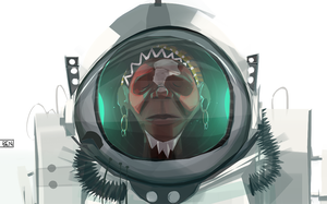 The tribal dude in the space suit by Ben-Olive