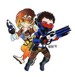 Playing Overwatch! by kisuili