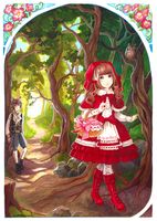 Frilly Red Riding Hood and Elegant Gothic Wolf by nokecha