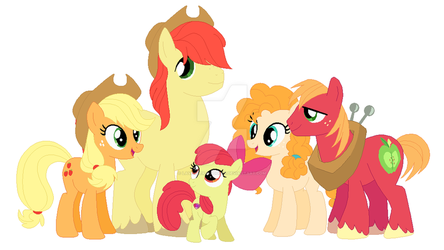MLP - The Apple Family by Lavender-Doodles