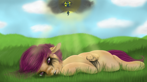Spit shine your black clouds now, baby by colorlesscupcake