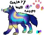 Galaxy Wolf Adopt by Dorosaury