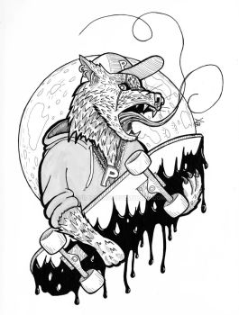 Werewolf Skater by crazyxav
