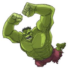 leaping hulk by jimmymcwicked
