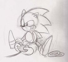 Classic Sonic plays Megadrive by ThePandamis