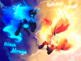 ADOPT Black Mirage  Sunset Comet OPEN by aprillfool