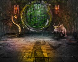 Entrance To Forbidden Forest by kitkat523