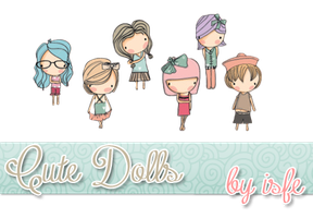 Cute Dolls png By isfe by Isfe