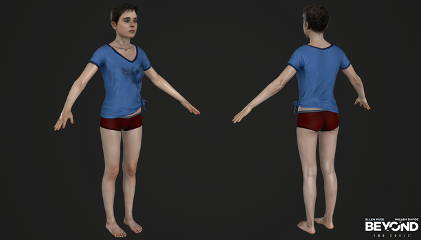 PS3 Beyond Two Souls - Jodie Underwear Navajo by Crazy31139