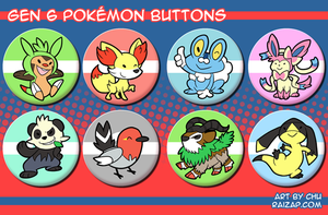 Gen 6 Pokemon Buttons
