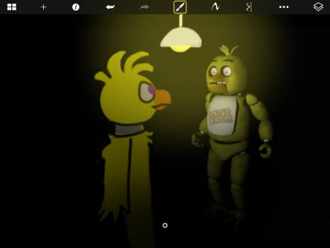 Chica and SFM chica by CreepypastaDeathNote