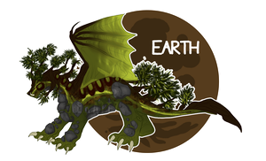 Ancient Draconic Elementals: Earth (AUCTION) by Aekaitz