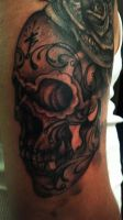 Session #2 SugarSkull and previous session Money R by MarlonChavarria