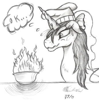 Celestia Attempts Cooking Again... by AncientOwl