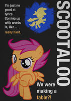 Scootaloo Typography Poster by Skeptic-Mousey