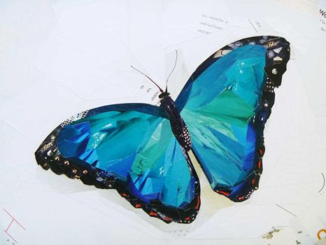 Blue Morpho / fragment by PolinaQueen