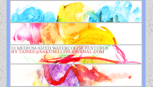 10 WATERCOLOR TEXTURES by tainee