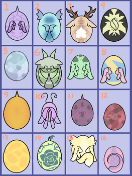 MLP Egg Adoptables -OPEN- by Rabies-the-Squirrel