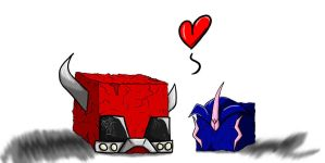 TFP: Cliffjumper and Arcee by Shirobutterfly