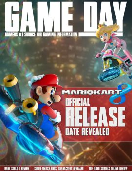 Mario Kart 8 magazine cover | Game Day by ItsMeSwitch