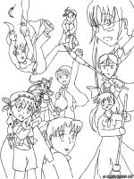 Main Characters - Line Art by Gyrick