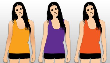 Free Womens Tank Top Template by t-shirt-template